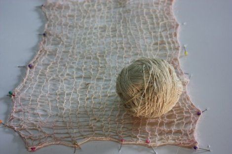 handspun ixtle gift  and crochet sample by Julia Caporal