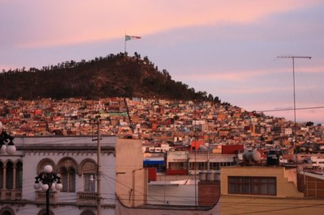 Pachuca at sunset