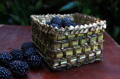 berry basket made of blackberry bark by Joy Witzsche