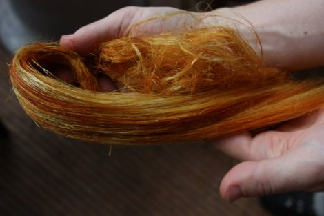 onion skin  dye used at 200% W.O.F.